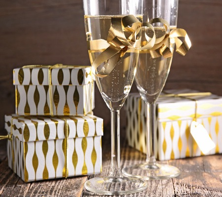 prosecco and christmas pudding, what a great pairing